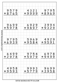 Printable Math Worksheets For 5th Grade Math Worksheets Long Addition With Printable Addition Worksheets
