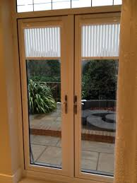Magnetic Blinds For French Doors Black Blinds For White Wooden Patio French Doors Plus In Cream