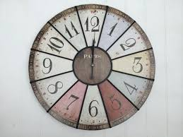 shabby chic retro french multi coloured wall clock mulberry moon
