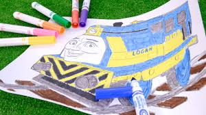 how to coloring logan thomas and friends coloring page with