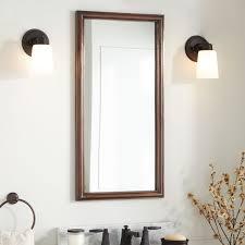 large rectangular smooth copper mirror antique copper bathroom