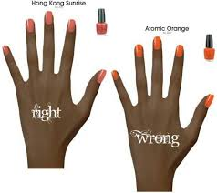 nail polish tips for dark skin nails pinterest