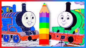 coloring learn colors thomas friends coloring book
