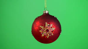 and gold baubles rotating each on its own string