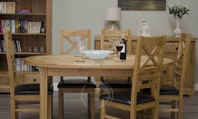 oak extending dining table and chairs with design picture 6790