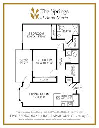 senior apartment floor plans the springs at anna maria