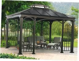 patio ideas patio canopy gazebo 10 x 12 gazebo with rust