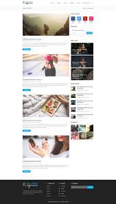 express blog and magazine psd template by gomalthemes themeforest