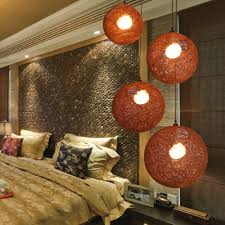 lighting ideas bedroom triple yarn pendant lamps in modern
