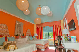 blue and orange room orange pastel and blue walls for nice sweet bedroom idea