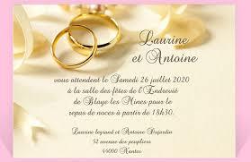 carte mariage carte de invitation de mariage modèle de lettre