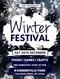 festival brochure template customizable design templates for winter flyer postermywall