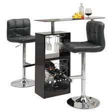 dining table with wine storage bar wine rack sosfund in tables prepare 3 pcs modern rectangular