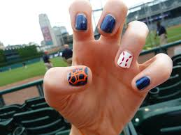 detroit tigers nails style pinterest tiger nails sports