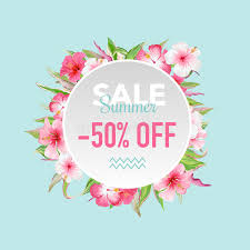 discount flowers summer sale tropical flowers banner for discount poster fashion
