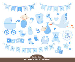 baby boy clip art shower clipart blue graphics banners teddy