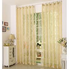 Yellow Sheer Curtains Pale Yellow Polyester Fabric Sheer Curtains With Patterns