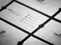 classic black u0026 white minimalist business card template cardzest