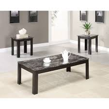 coffee table with marble top degreet black for design stained