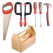 shop red toolbox classic tool box kit with tools at lowes com
