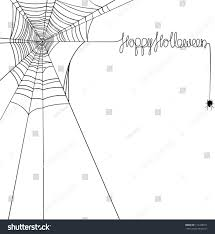 happy halloween spider web banner stock vector 112428911