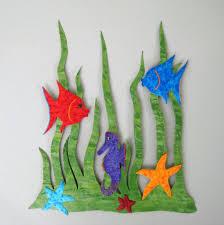 Garden Wall Art Custom Handmade Upcycled Metal Sea Garden Wall Art Sculpture By