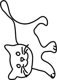 coloriage pour petits petit chat tête à modeler