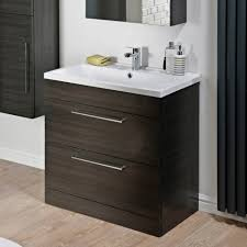 Call Vanity 800mm Tyne Black Brown Vanity Unit Floor Standing Bathroom