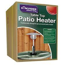 Table Patio Heater Kingfisher Ph300 Garden Outdoor Table Top Patio Heater Multi