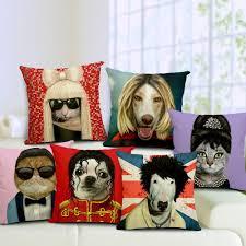 Decorative Seat Cushions Dogs Cats Cosplay Audrey Hepburn Lady Gaga Psy Che Guevara Star