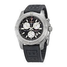 breitling steel bracelet images Breitling colt chronograph black dial rubber strap men 39 s watch jpg