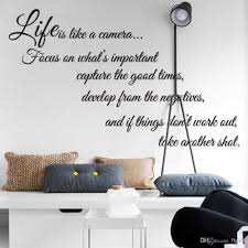Wall Art Home Decor Life Is Like A Camera Quote Wall Stickers Decal Home Decor For