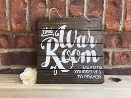 Christian Home Decor Wall Art War Room Sign Prayer Sign Stained Wood Sign Prayer Room
