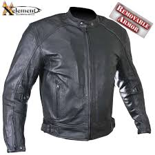 perforated leather motorcycle jacket xelement men s cruiser perforated leather motorcycle armored jacket