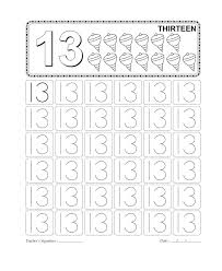 easy number 13 worksheet for kids loving printable