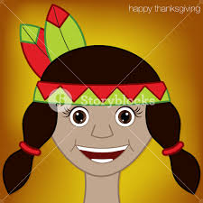 thanksgiving american indian character in vector format
