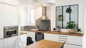 cuisine ouverte sur s駛our decoration appartement cuisine ouverte ensemble cour arri re a