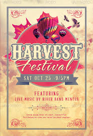 festival brochure template best harvest and thanksgiving flyer templates