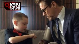 Robert Downey Jr Vanity Fair Robert Downey Jr Gives Child An Iron Man Prosthetic Limb Ign