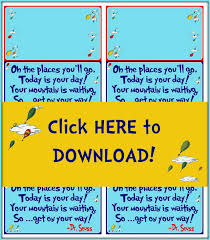 oh the places you ll go graduation gift oh the places you ll go graduation printable treat bag toppers a