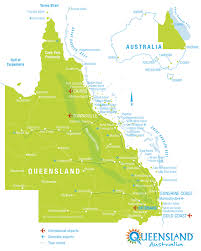map of queensland queensland tourism map queensland australia