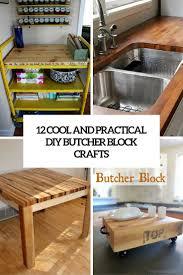 diy butcher block holst us 12 cool and practical diy butcher block crafts shelterness