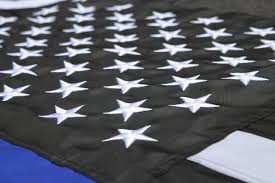 3x5 Foot Flag Thin Blue Line American Flag With Embroidered Stars Police