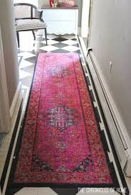 Black White Runner Rug Bold Pink Entryway Rugs Apartments House And Interiors