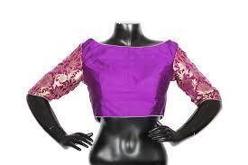 purple silk blouse designer purple silk blouse vijayalakshmi silks high