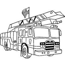 carton fire truck coloring pages coloring pages