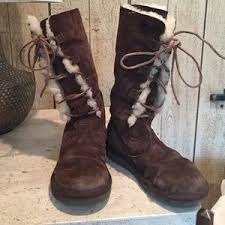 womens ugg boots size 8 s ugg lace up boots on poshmark