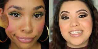 schools for makeup beauty are doing their makeup like they did in high