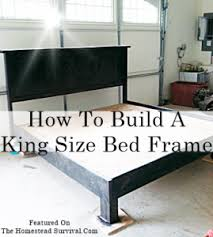 How To Build Platform Bed King Size by 100 Build A Full Size Bed Frame This Guy Made A Diy