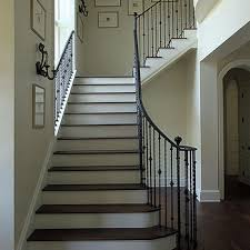 Banister Wall Taupe Staircase Railing Design Ideas